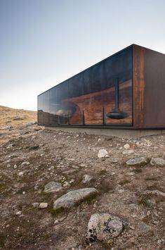 Container House - Snøhetta - Tverrfjellhytta, Norwegian Wild Reindeer Pavilion - Who Else Wants Simple Step-By-Step Plans To Design And Build A Container Home From Scratch? Container Architecture, Pavilion Architecture, Sustainable Architecture, Residential Architecture, Contemporary Architecture, Interior Architecture, Post Contemporary, Contemporary Houses, Japanese Architecture