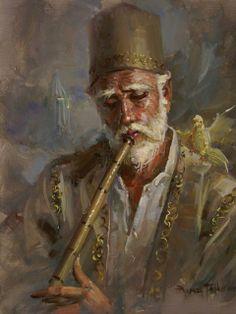 (Turkey) The portrait of old man by Remzi Taskiran ). born in Adiyaman in Turkey. Islamic Paintings, Turkish Art, Foto Art, Islamic Calligraphy, Portrait Art, Portraits, Islamic Art, Art Music, Oeuvre D'art