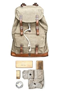 """rucksack from julien renault's """"inventory"""" collection."""