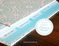 How to Make a Cleaning Binder via @Clean Mama