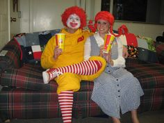 166aeb7cc111 Couple s Fast Food Costume - McDonald s and Wendy s