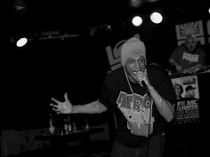 Phy Life Cypher moment Performances front uk hiphop legends Phy Life Cypher in 2013, Brno. MC Life and DJ Nappa.