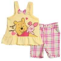 Disney Baby-Girls Infant Winnie The Pooh 2 Piece Knit Shirt And Woven Pant Set, Yellow, 12 Months:Amazon:Clothing