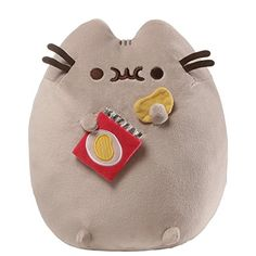 Your child will love the adorable Pusheen Potato Chips Plush Toy from Gund. This soft and cute plush toy features the silly cat Pusheen eating a bag of potato chips and makes for a great cuddle companion for your little one. Pusheen Stuffed Animal, Cute Stuffed Animals, Chat Pusheen, Pusheen Cat Plush, Pusheen Toys, Nyan Cat, Grey Tabby Cats, Siamese Cats, Mode Shop