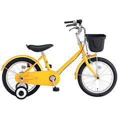 yellow kids bike frm muji