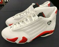 newest 3d7c8 10da9 (eBay Sponsored) Nike Jordan Retro 14 Candy Cane 1999 Last Shot Red and  White XIV Size 10 NIB