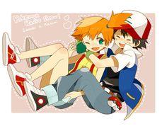 Beautiful ♡ Pokeshipping ^.^ ♡ Pokemon Ships, My Pokemon, Cool Pokemon, Pikachu, Pokemon Stuff, Pokemon Ash And Misty, Nintendo Characters, Fictional Characters, Pokemon Images