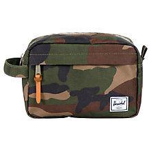 Buy Herschel Chapter Wash Bag, Camouflage Green Online at johnlewis.com
