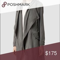 ❤️flash sale from $400❤️All Saints Portere coat Worn a few times! Needs dry cleaning as something got on it in the back. Sold as is. Final sale. No returns. Trades full price. Reduced from $500. Not sure if I want to let this go yet. Super hard to get and always out of stock!Flash sale negates their right to return for any possible issues. All Saints Jackets & Coats