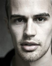 Theo James is playing Four in the Divergent i have to say the book is awesome and i hope the movie will be too... But no feeling hopeful about it!