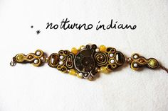 soutache bracelet with ammonite and natural di notturnoindiano, €50.00