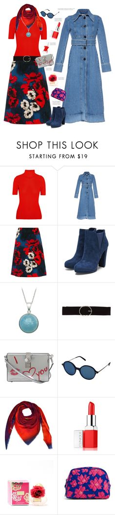 """""""Red Poppy'"""" by dianefantasy ❤ liked on Polyvore featuring Victoria Beckham, Marni, Samantha Sung, Vero Moda, Dolce&Gabbana, Oliver Peoples, Kopé London, Clinique, Vera Bradley and Essie"""