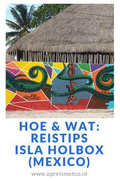 Isla Holbox is een paradijsje in Mexico. Amper auto's, felgekleurde muurschilderingen, lekker eten en een spierwit zandstrand aan een felblauwe zee. Maar wat moet je allemaal weten voordat je hier naartoe gaat? Je leest het in dit artikel. Mexico Travel, North America, Travel Inspiration, Travel Tips, Beautiful Places, Lost, Playa Del Carmen, Islands, Travel