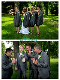 Love these pics of the bride, groom, and wedding party!