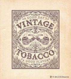 """Vintage Tobacco"" type by Charles Desevre."
