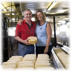 For over thirty years, Tony and Julie Hook have been making cheese in Wisconsin. Starting out as a fairly small operation, the Hooks made primarily Cheddar and Swiss cheeses. Some years later they expanded to Colby, Monterey Jack, and flavored Jacks and eventually needed to find a larger working space. Many more artisan cheeses and awards later, the Hooks now make cheese from their Mineral Point location in southwestern Wisconsin.