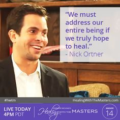 Join us at 4PM California Time for our #live show with Nick Ortner. Just go to http://healingwiththemasters.com/webcasts and enter the password: healing #QA #livestream #health #wellness #energymedicine