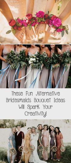 These Fun Alternative Bridesmaids Bouquet Ideas Will Spark Your Creativity! - Green Wedding Shoes #BlackBridesmaidDresses #BridesmaidDressesSequin #MaroonBridesmaidDresses #CasualBridesmaidDresses #BridesmaidDressesMuslim