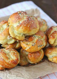 Pretzel Garlic Parmesean Knots