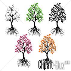 CLIPART TREES SET