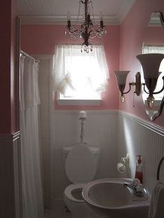 Ash this would be cute for your tiny bathroom, maybe in a gray instead though!