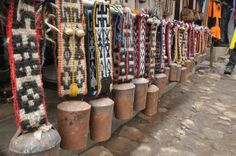 Yak bells with tablet woven bands....