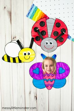 Bug crafts for kids Cool Art Projects, Craft Projects For Kids, Activity Ideas, Craft Activities For Kids, Preschool Crafts, Ladybug Crafts, Bee Crafts, Butterfly Crafts, Cute Kids Crafts