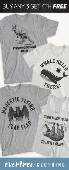 Shop funny animal pun shirts like