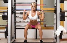 You can get a total-body workout on the Smith machine. #fullbodyworkout #weightlifting