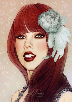 Ilustraciones de moda por Elodie | Undermatic