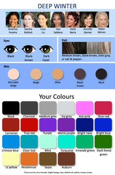 expressing your truth blog: 12 Seasonal Palettes Winters