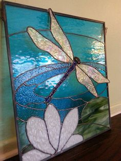 2016- Stained Glass Dragonfly Panel Made By K. Cannon