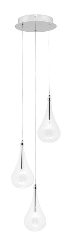 Pendant Light Three G4 20W in Chrome 134cm Co
