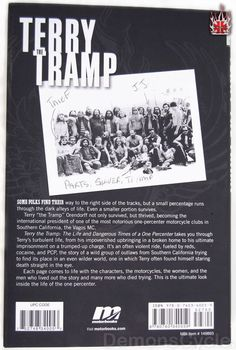 Terry The Tramp of the VAGOS MOTORCYCLE CLUB BACK COVER OF HIS BOOK