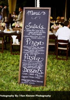 Outdoor Wedding Food Menu Maybe Something Along These Lines If