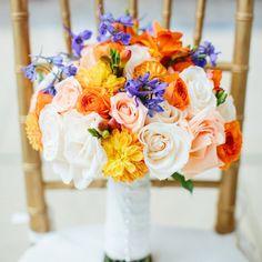 Colorful Bridal Bouquet // Daniel J. Photography //  Bridal Bouquet: Precious Petals