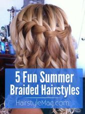 5 braided hairstyles that are really cute and perfect for summer! 5 braided hairstyles that are real Braided Hairstyles For School, Super Cute Hairstyles, Fancy Hairstyles, Beauty Tips For Hair, Hair Beauty, Cabello Hair, Summer Braids, Great Hair, Hair Day