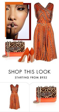 """Untitled #3224"" by julinka111 ❤ liked on Polyvore featuring Blumarine, Christian Louboutin and Gianvito Rossi"