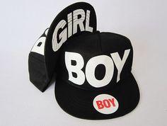 Boy/Girl Black Adjustable Snapback Hat