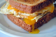 {Best} Fried Egg Sandwich:  I might need to make this for breakfast soon. Sans the cheese. Don't need the cheese.