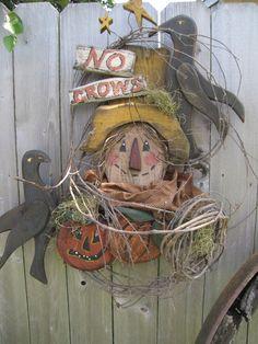 Wooden Scarecrow Patterns | WOOD CRAFT HALLOWEEN SCARECROW CROW WREATH PATTERN 241