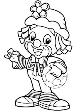 Clown mit Fußball