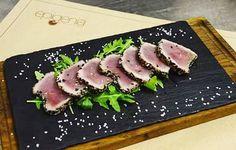 Tataki tuna  #epigenia #wine #tapas #bar #winebar #tapasbar #belgrade #beograd #spanish #food #finewine #toplickivinogradi #prokupac #serbia #srbija #whitewine #redwine #drinking #happy #day #tataki #tuna #tatakituna #fish by epigeniabar