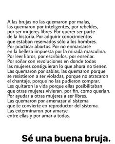 Se una buena bruja Feminist Men, Feminist Quotes, Powerful Quotes, Powerful Women, Wicca, Motivational Messages, Power Girl, Book Quotes, Inspire Me