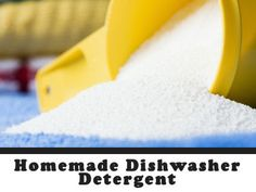 I use the borax/baking soda option and add a tsp of liquid dish detergent.  No cloudy residue and it's cheap!