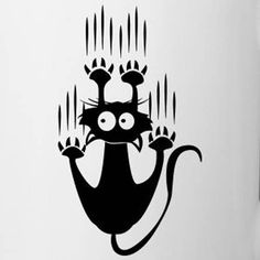 Scratch Cat - Herren T-Shirt Cat Quilt, Cat Silhouette, Cat Drawing, Pyrography, Easy Drawings, Rock Art, Cat Art, Painted Rocks, Cat Lovers