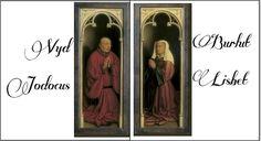 A genti oltár megrendelői: Vyd Jodocus és neje, Burlut Lisbet