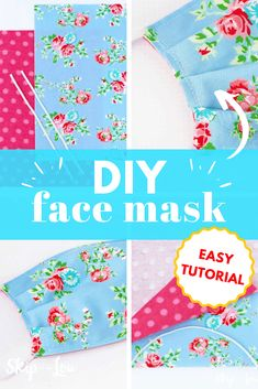 Make this face mask pattern with a tiny bit of fabric and elastic. The pattern is simple enough even for beginner sewers Make this face mask pattern with a tiny bit of fabric and elastic. The pattern is simple enough even for beginner sewers Easy Sewing Projects, Sewing Hacks, Sewing Tutorials, Sewing Crafts, Sewing Patterns, Sewing Tips, Bead Patterns, Sewing Stitches, Sewing Basics