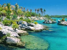 Xel ha, near Playa del Carmen, Mexico.  Super relaxing natural aquarium
