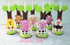 termoativo e anti frizz planta Carnival Crafts, Diy And Crafts, Crafts For Kids, Pot A Crayon, Candy Decorations, Oreo Pops, Farm Birthday, Farm Party, Ideas Para Fiestas